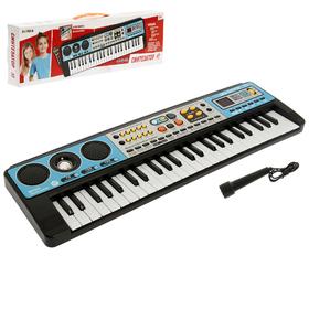 """Синтезатор """"Музыкальный взрыв"""", 49 клавиш с радио, работает от сети и от батареек"""