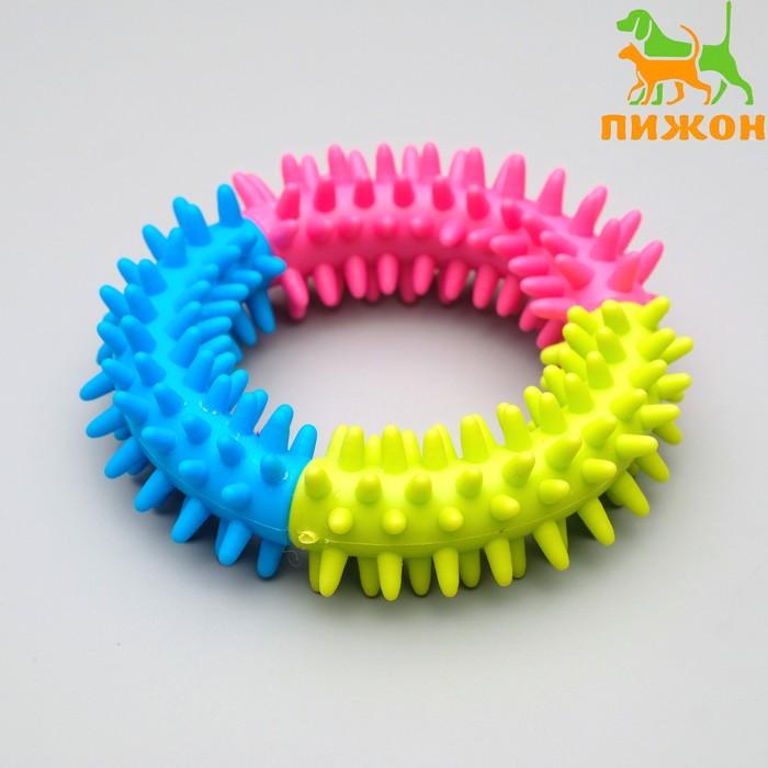 """Игрушка резиновая жевательная """"Кусочек счастья"""", 9,5 см, микс цветов"""