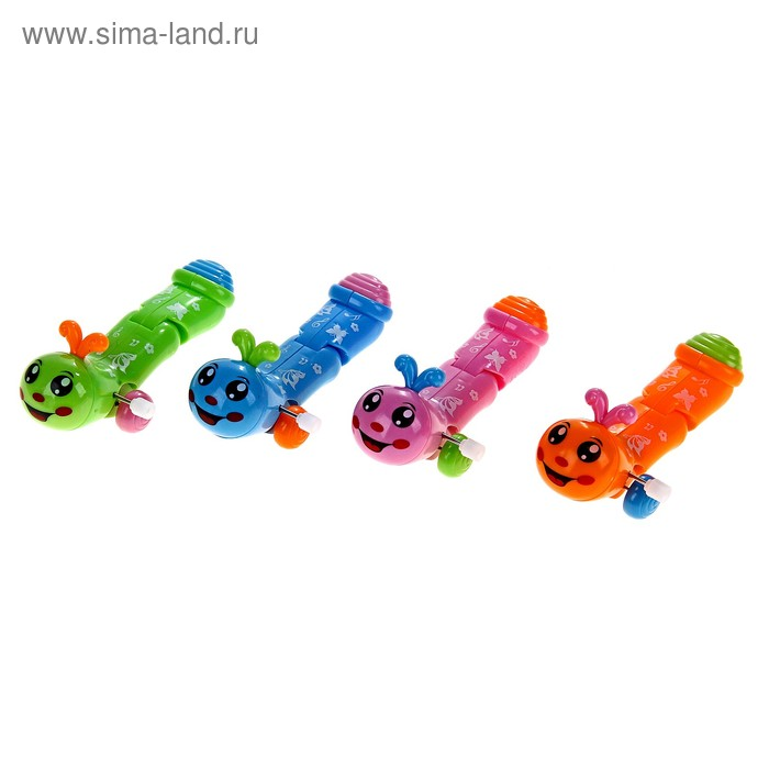 Игрушка заводная гусеничка 4 вида в пак. №901