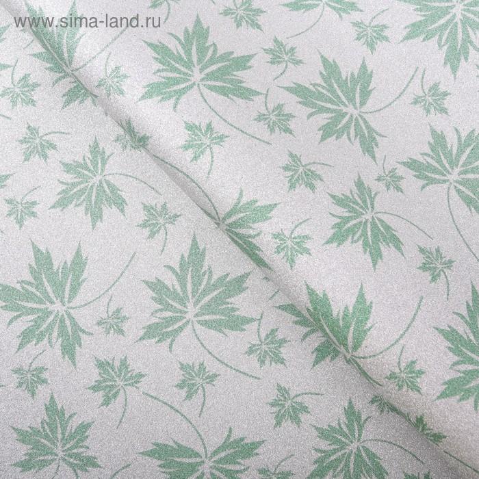 """Бумага упаковочная """"Листопад"""", цвет зелёный"""