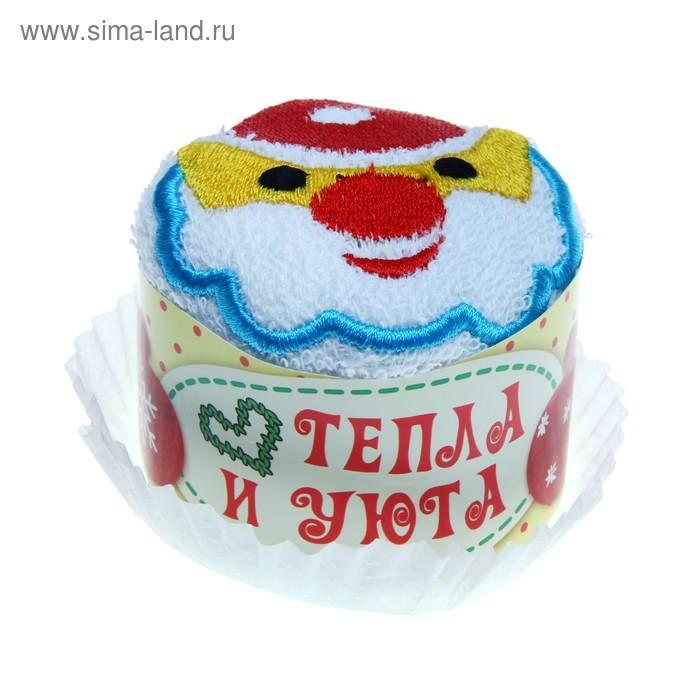 Сувенирное полотенце Дед Мороз 28х28 см