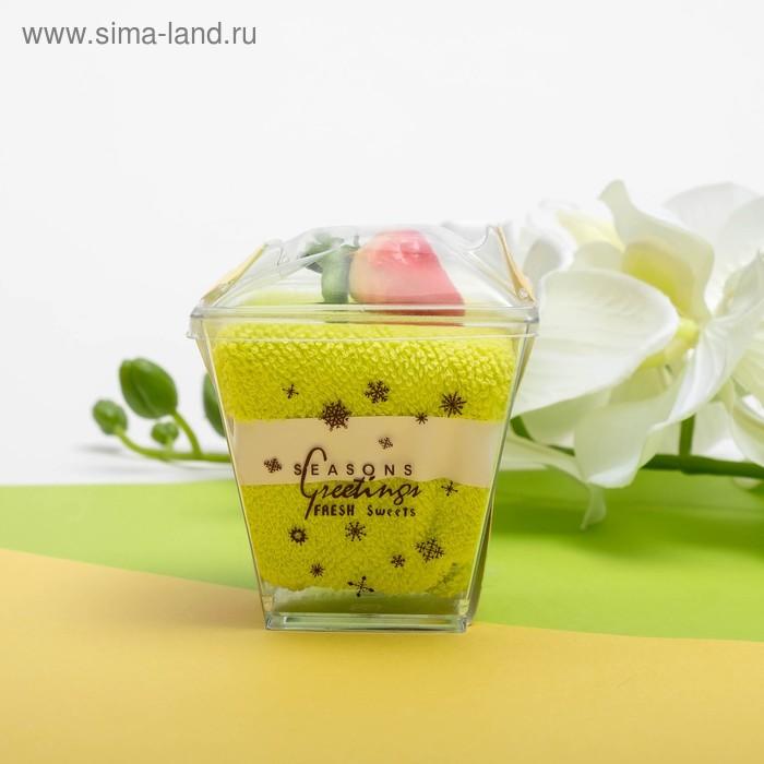 Сувенирное полотенец Лимонный десерт 20*20 см