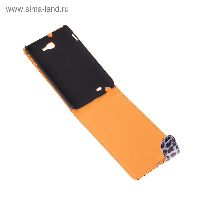 """Чехол для телефона Samsung Galaxy Note, 9220, """"Бенгальский леопард"""", откидной, с магнитным замком, микс"""