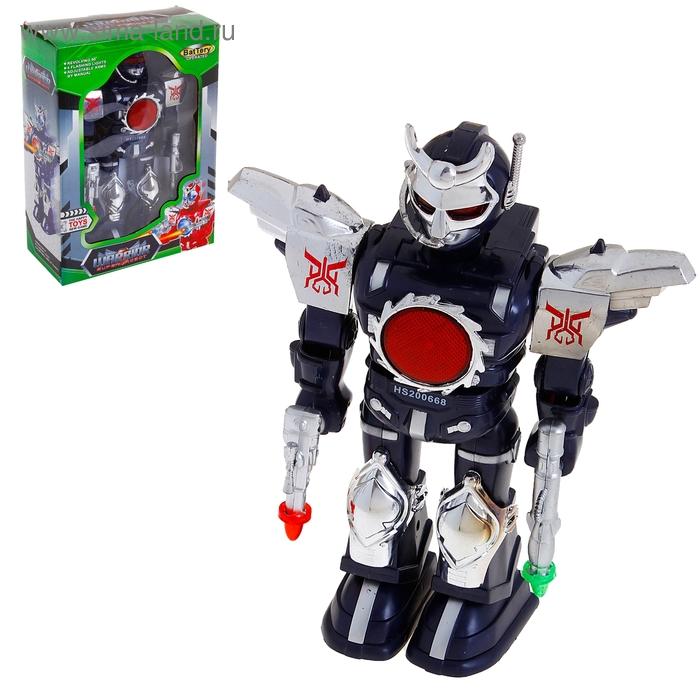 """Робот """"Воин"""", работает от батареек, световые и звуковые эффекты, цвета МИКС"""