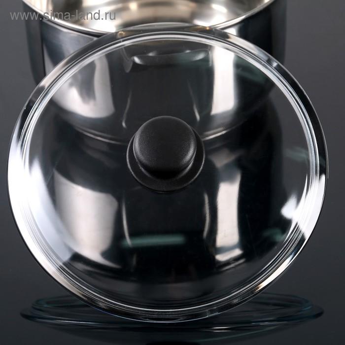 Крышка стеклянная d=24 см, прессованная, низкая