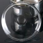 Крышка стеклянная d=22 см, прессованная, низкая