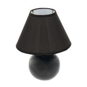 Лампа настольная 'Чёрный шар' Ош