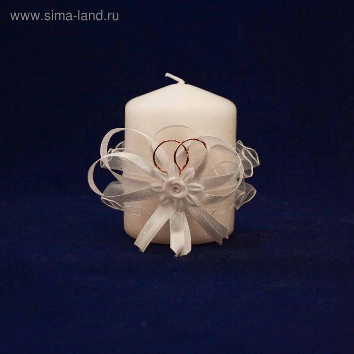 Свадебная свеча с ажуром белая. Домашний очаг.