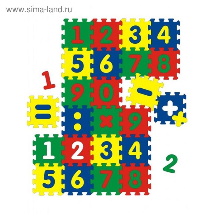 Мягкий развивающий коврик с цифрами, 24 элемента