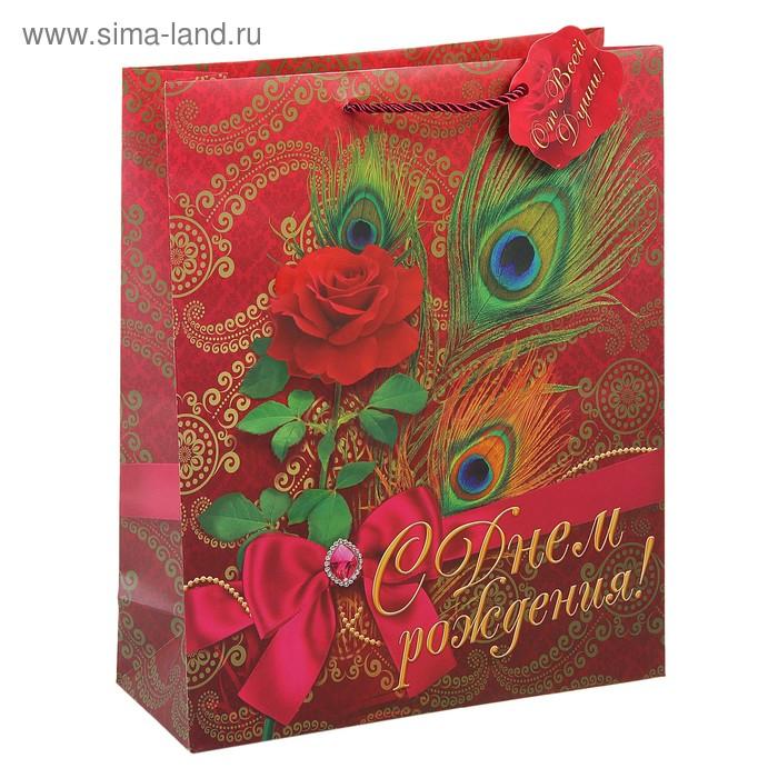 """Пакет подарочный """"С Днем рождения, богема"""""""