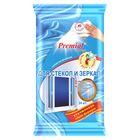 Cалфетки влажные Premial House для чистки стекол и зеркал, 24 шт