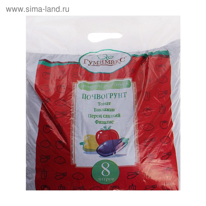 Почвогрунт для пасленовых, 8 л (4,4 кг)