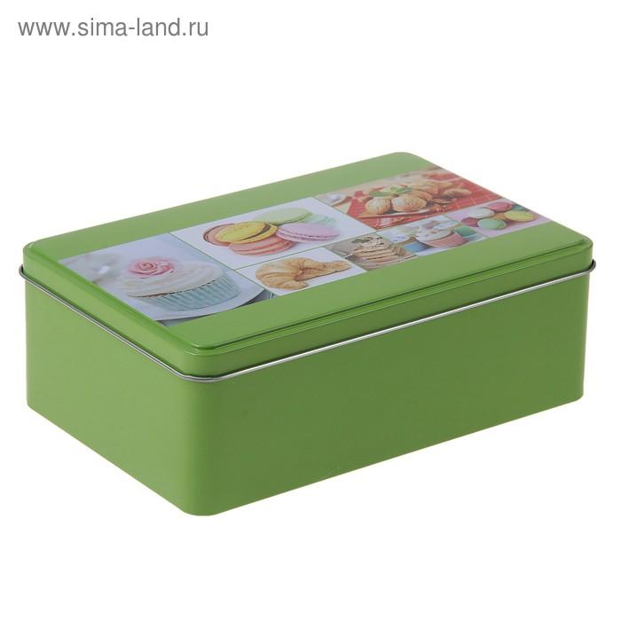 """Емкость для хранения продуктов 1,5 л """"Ретро. Сладости"""", 20х13х7 см, цвета МИКС"""