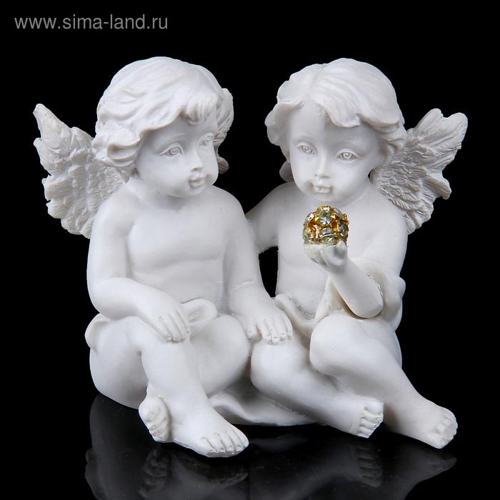 """Сувенир """"2 ангела с кристалликом"""""""