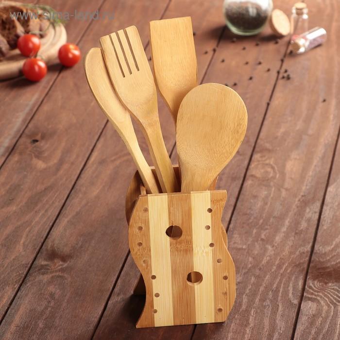 Набор кулинарный, 4 предмета, на подставке