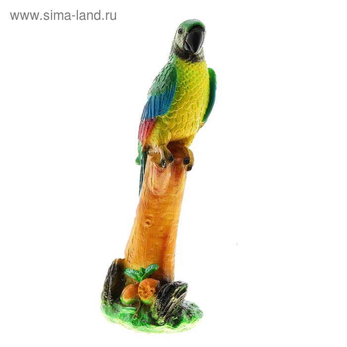 """Садовая фигура """"Попугай"""" жёлтая грудка"""
