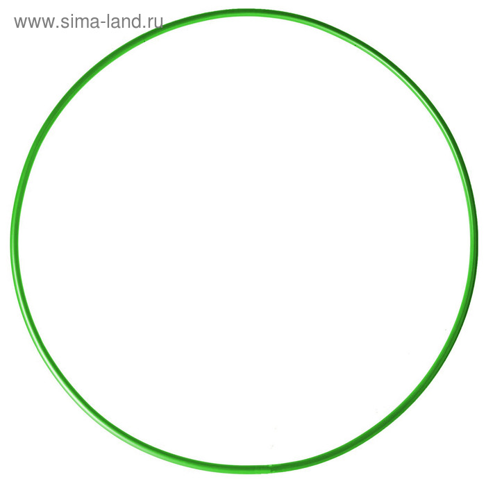 Обруч гимнастический, стальной, d=900 мм, цвет: зеленый