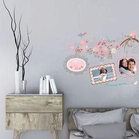 """Наклейка на стену с фоторамками """"Моменты жизни. Птички"""""""