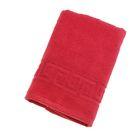 Полотенце махровое однотонное Антей цв красный 40*70см 100% хлопок 430 гр/м2
