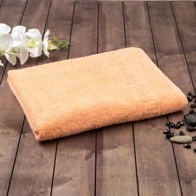 Полотенце махровое однотонное Антей цв персиковый 40*70см 100% хлопок 400 гр/м