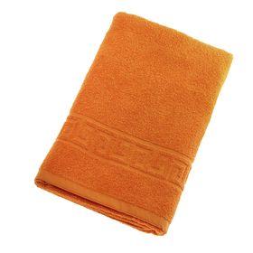Полотенце махровое однотонное Антей цв оранжевый 70*140см 100% хлопок 400 гр/м
