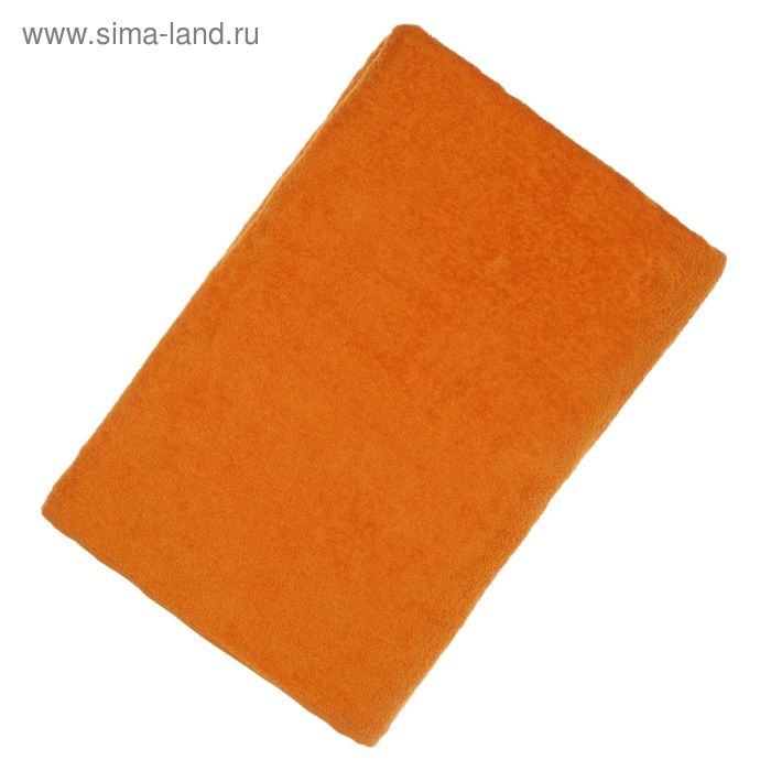 """Простыня махровая однотонная """"Антей"""" цвет оранжевый 190*200 см 100% хлопок 340 гр/м"""