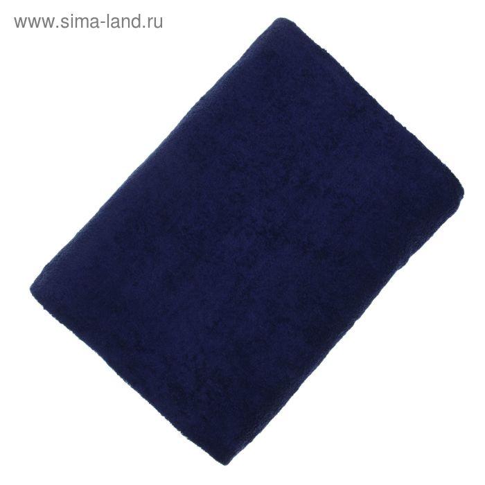 """Простыня махровая однотонная """"Антей"""" цвет т-синий 190*200 см 100% хлопок 340 гр/м"""