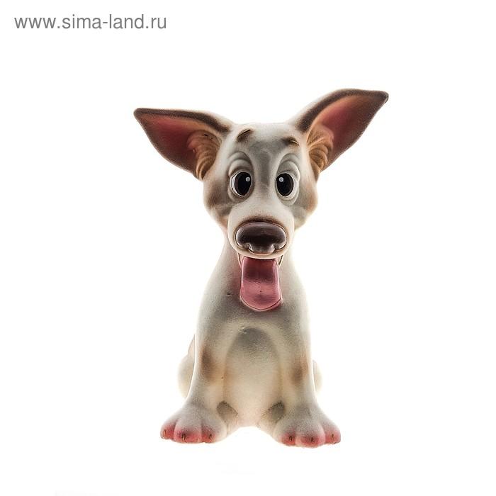 "Копилка ""Собака Ушастик"" флок белая"