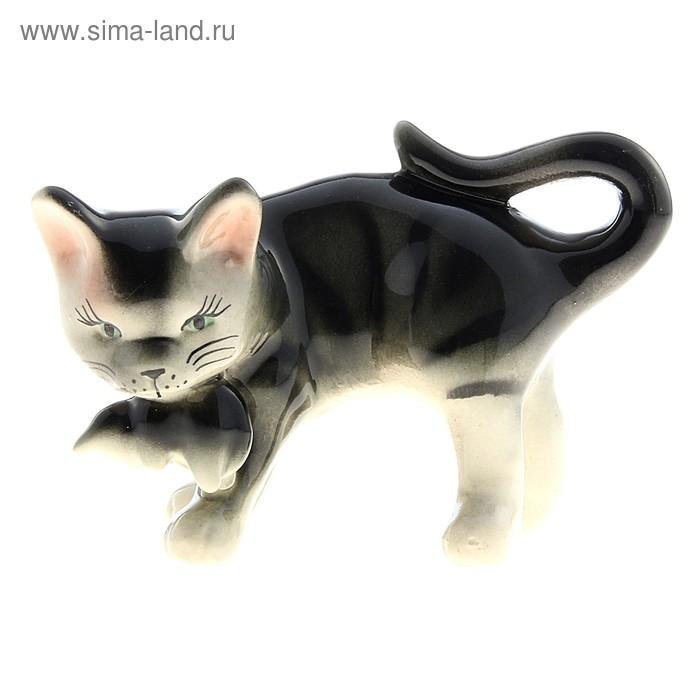 "Сувенир ""Кошка Аська"" глянец, серый"