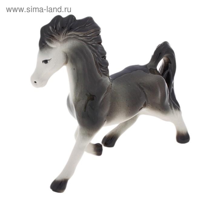 """Сувенир """"Конь"""" глянец, серый"""