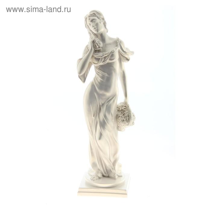 "Статуэтка ""Дама с корзиной"" перламутр"