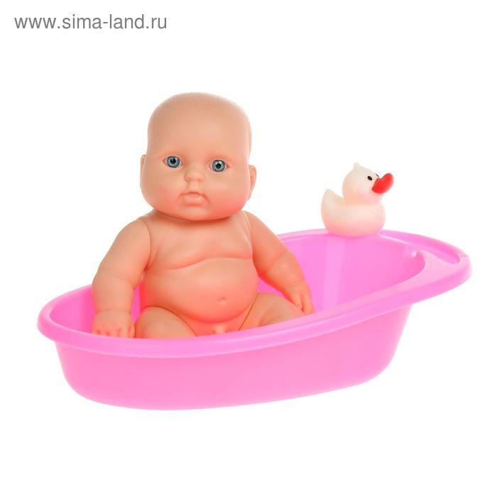 Набор «Карапуз-мальчик в ванной» с игрушкой, цвета МИКС
