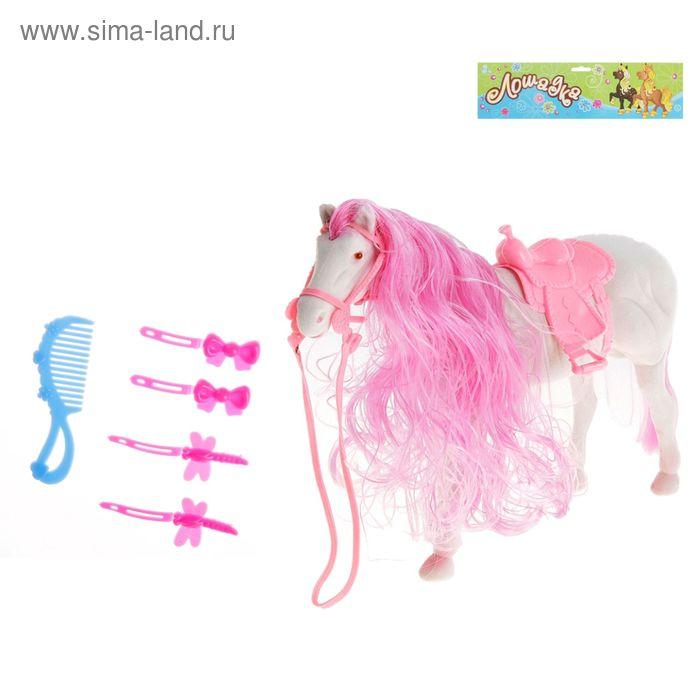 Лошадь большая для принцессы с аксессуарами, МИКС