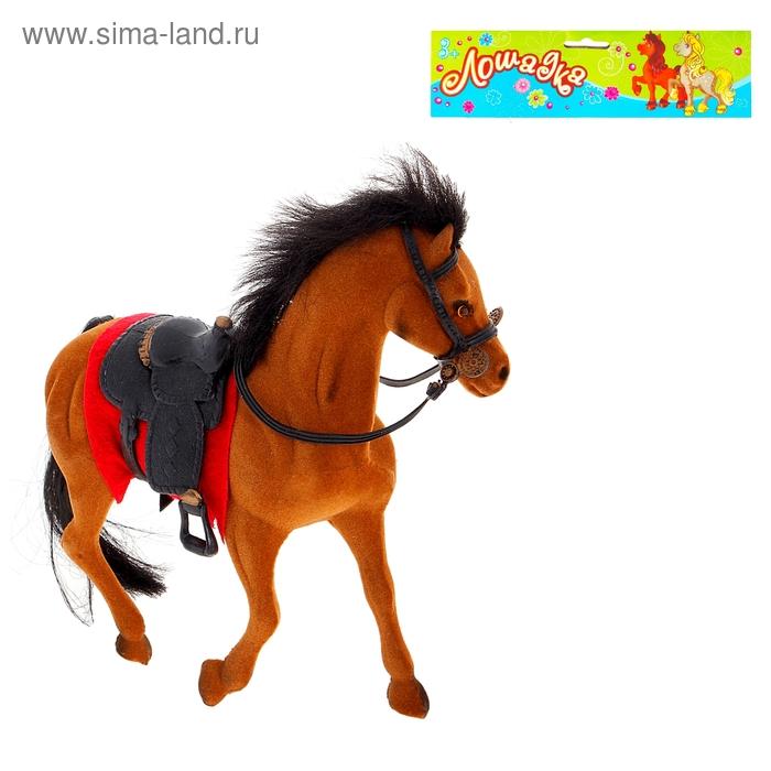 """Лошадь """"Черногривая"""", флок, цвета МИКС"""