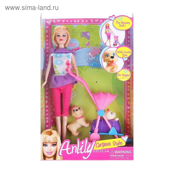"""Кукла """"Анлилу"""" с коляской и питомцами"""