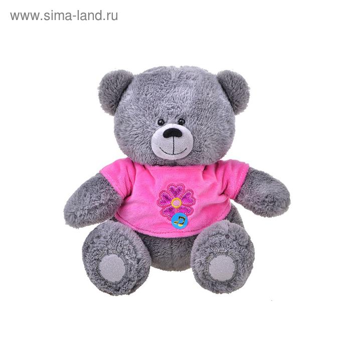 Мягкая игрушка «Медвежонок в кофточке с цветком» музыкальная