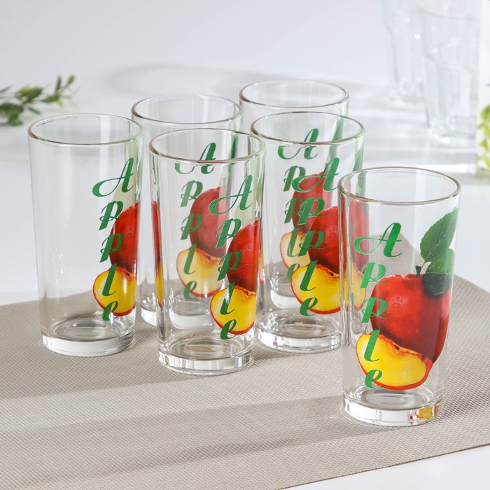 "Набор стаканов 230 мл ""Яблоко"", 6 шт"