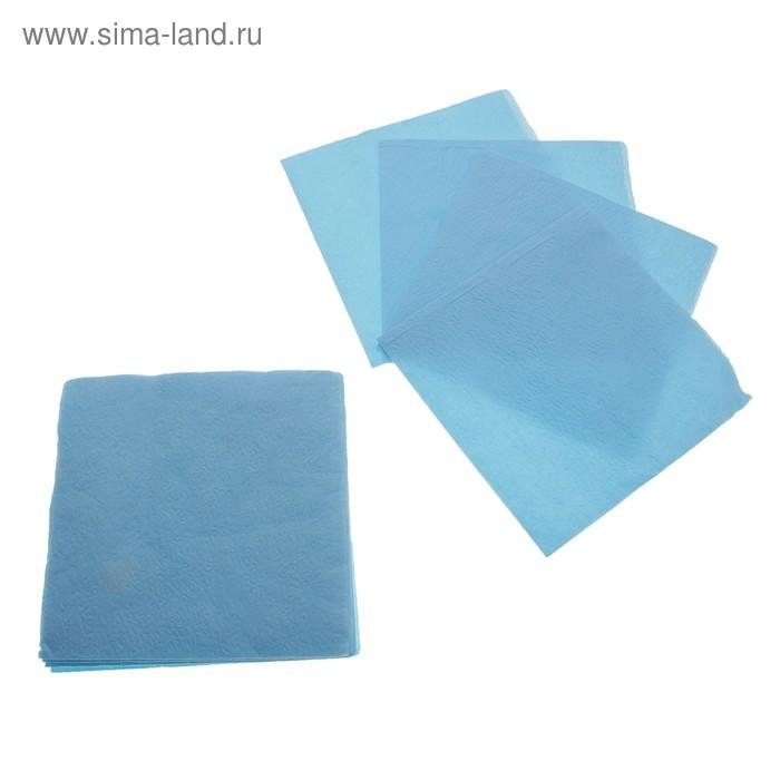Салфетки Nega 90 листов 1 сл голубые