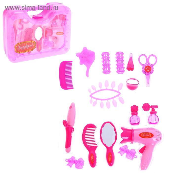 Набор аксессуаров для парикмахера в чемодане, 16 предметов