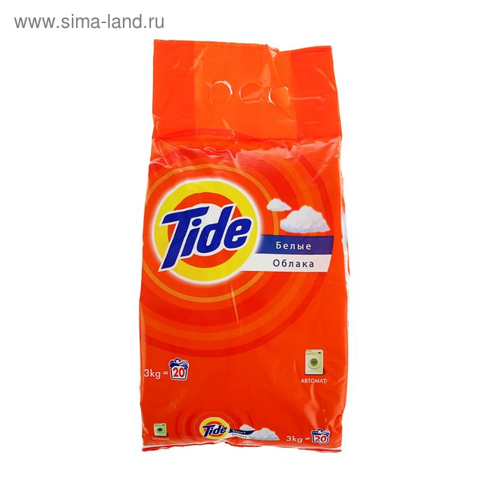 """Порошок стиральный Tide Автомат """"Белые облака"""", 3 кг"""
