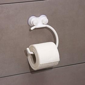 Держатель на присосках для туалетной бумаги 'Белая коллекция' Ош