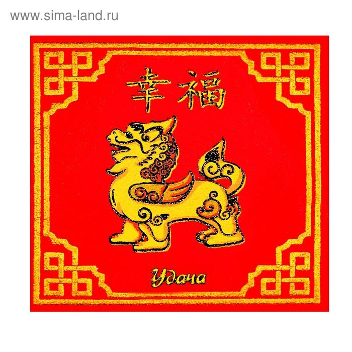 """Салфетки для счета денег """"Китайский крылатый лев, удача"""""""