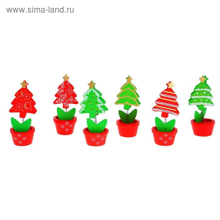 "Визитница - прищепка новогодняя ""Ёлочка новогодняя"", микс"
