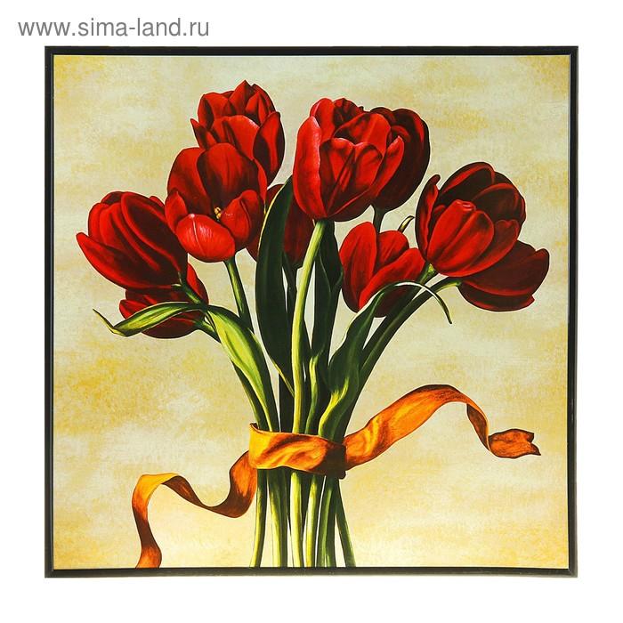 """Картина-постер """"Тюльпаны с лентой"""""""