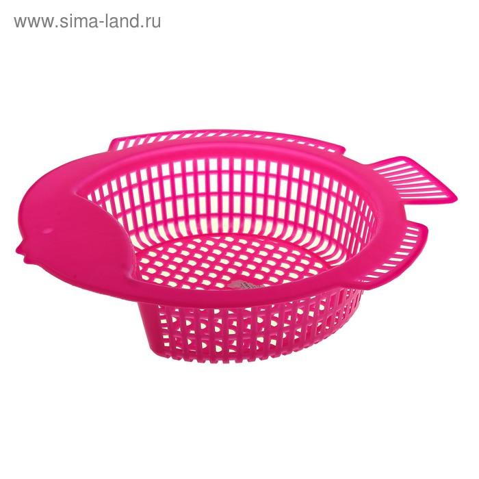 """Дуршлаг 30х29 см """"Рыбка"""", розовый"""