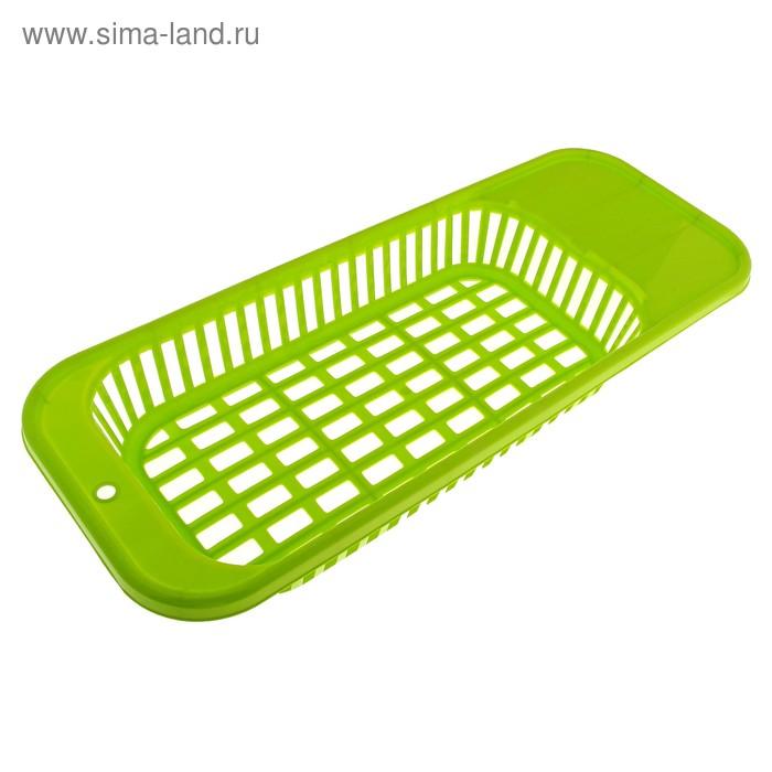 """Лоток для столовых приборов """"Решето"""", зеленый"""