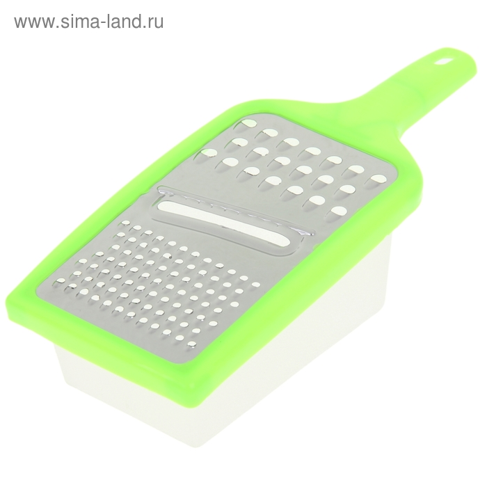 Терка с лотком и ручкой 23х9х7 см, цвета МИКС