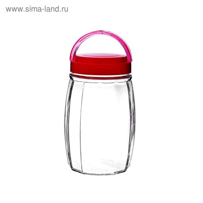 """Банка для сыпучих продуктов 1,8 л """"Бочонок"""", розовая"""