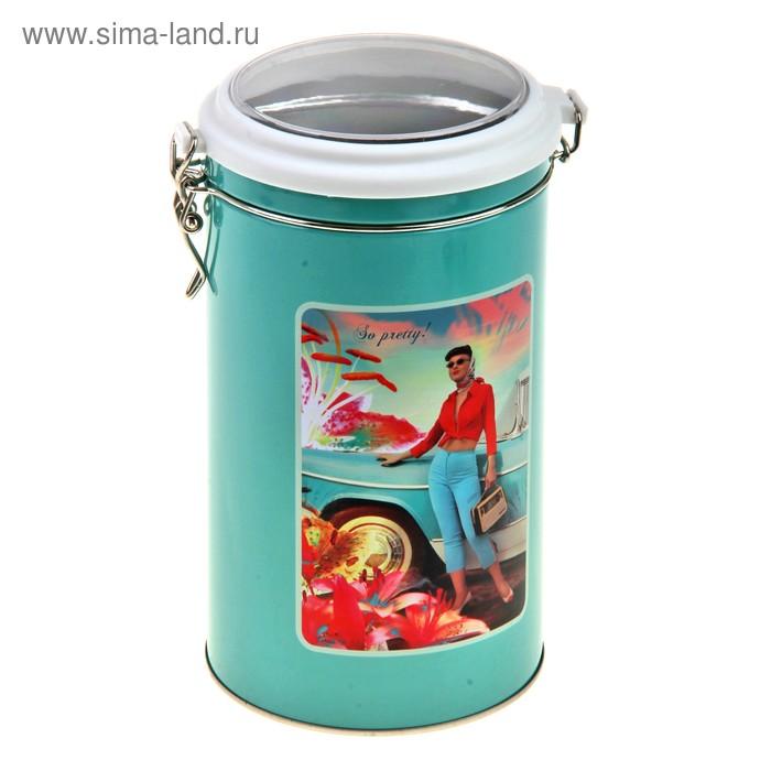 """Банка для сыпучих продуктов 1,5 л """"Весна"""", цвет МИКС"""