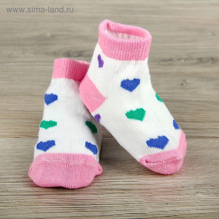 Носки детские Collorista Сердце, S/0-1 г., цвет микс